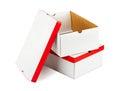 Opened boxes isolated on white background Royalty Free Stock Image