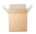 Opened cardboard box taped up Royalty Free Stock Photo
