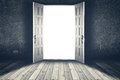 Opened door. Abstract interior backgrounds Royalty Free Stock Photo