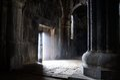 Opened door inside ancient christian church, Sanahin Monastery,u Royalty Free Stock Photo