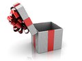 Opened gift box Royalty Free Stock Images