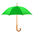 Opened green umbrella isolated on white background Royalty Free Stock Images