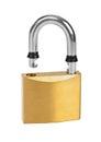 Opened lock Royalty Free Stock Photo