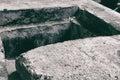Opened manhole cover Royalty Free Stock Photo