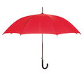 Opened red umbrella over white isolated Stock Image