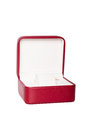 Opened red watch box Royalty Free Stock Image