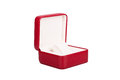Opened red watch box Royalty Free Stock Photo