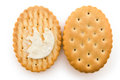Opened sandwich biscuits Royalty Free Stock Photography