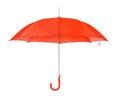 Opened umbrella isolated on white background Royalty Free Stock Images
