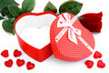Opened Valentines Day gift box Royalty Free Stock Photos