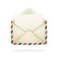 Opened vintage mail envelope