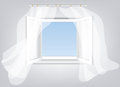 Opened window Royalty Free Stock Images