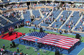 The opening ceremony of us open men final match at billie jean king national tennis center flushing ny september on september in Stock Image