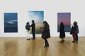 Opening of exhibition wolfgang tillmans on the verge of visibility in fundação serralves museum january th Stock Images