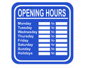 Opening hours Stock Images