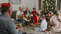 Opening Presents On Christmas Morning Royalty Free Stock Photo