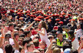 Opening of the San Fermin festival in Pamplona Royalty Free Stock Images