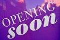 Opening soon Royalty Free Stock Photo