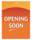 Opening Soon Stock Photo