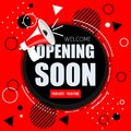 Opening soon banner