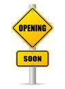 Opening soon sign Royalty Free Stock Photo
