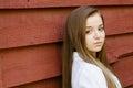 Openluchtportret van mooi jong tienermeisje Royalty-vrije Stock Fotografie