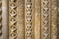 Openwork pattern of sandstone building Royalty Free Stock Photo
