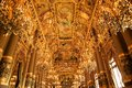 Opera garnier details of the grand foyer of the palais the of paris Royalty Free Stock Photography
