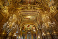 Opera Garnier interior in Paris, France Royalty Free Stock Photo