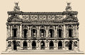 Opera garnier in paris vector illustration of Royalty Free Stock Photo