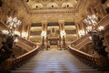 Opera Garnier stairway, interior in Paris Royalty Free Stock Photo