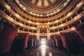 Opera house. Teatro Theater Massimo Vittorio Emanuele Royalty Free Stock Photo