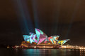 Opera house in vivid sydney australia may shown during festival Royalty Free Stock Photography