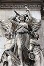 Opera National de Paris: Lyrical Drama Facade sculpture by Perraud Royalty Free Stock Photo