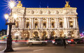 The Opera National of Paris at night. Royalty Free Stock Photo