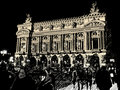 Opera in Paris at night Royalty Free Stock Photo