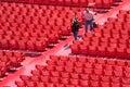 Operai nell'arena di Verona Immagine Stock Libera da Diritti