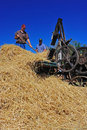 Operational 1918 Hay Bailer Royalty Free Stock Images