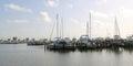 A opinião da paisagem de um porto e o barco deslizam em biloxi mississippi Fotos de Stock Royalty Free
