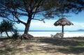 Opinión de la playa Imágenes de archivo libres de regalías