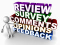 Opini?o do feedback da avalia??o da revis Foto de Stock Royalty Free