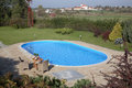 Opinión de la piscina Fotografía de archivo libre de regalías