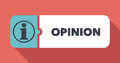 Opinion concept in flat design with long shadows Royalty Free Stock Photography