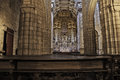 Oporto cathedral altar december interior xii xiii centuries in romanesque style alteration in xviii century on baroque style Royalty Free Stock Photo