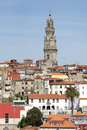 Oporto clerigos tower city portugal a unesco world heritage city Royalty Free Stock Photos