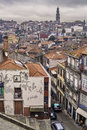 Oporto general view december downtown unesco world heritage site Royalty Free Stock Image