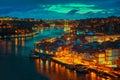 Oporto by night Royalty Free Stock Photo