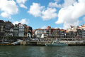 Oporto Ribeira Houses Stock Photo