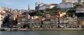 Oporto ribeira sunrise on the beautiful quarter panorama long exposition the historic center of porto was declared a world Royalty Free Stock Photography