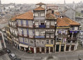 Oporto traditional houses december resident on downtown unesco world heritage site Stock Photography